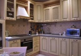 кухня из массива ясеня де-капе